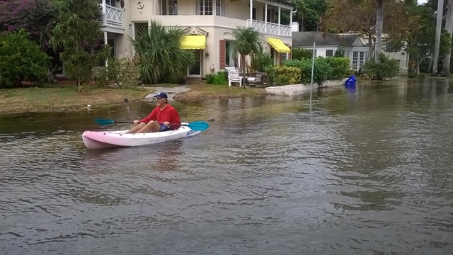 Photo of flooding in Delray Beach
